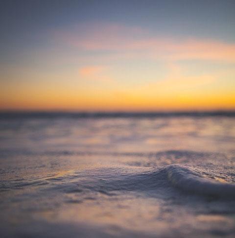 soft sunset ocean waves