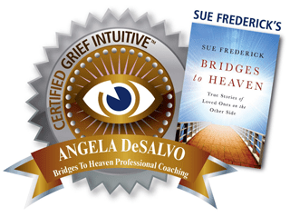 Certification seal for Grief Intuitive, Sue Frederick